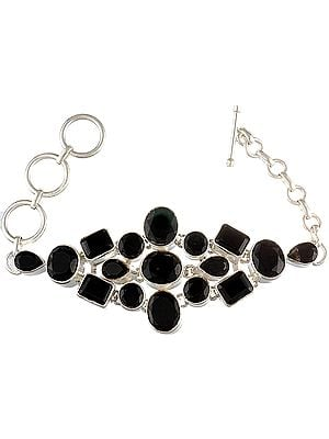 Faceted Black Onyx Bracelet