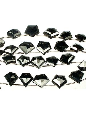 Faceted Black Spinel Shapes