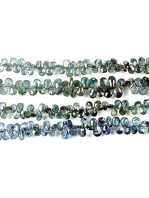 Faceted Blue Sapphire Briolette