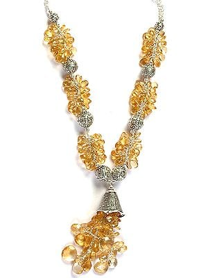 Designer Faceted Citrine Necklace
