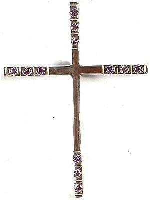 Faceted Cubic Zirconia Cross