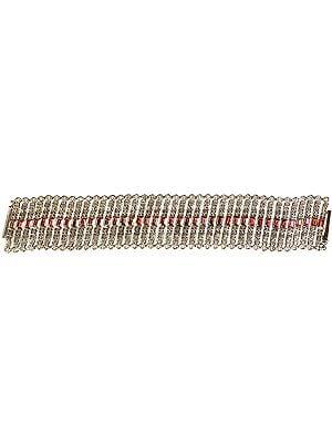 Faceted Garnet Designer Bracelet