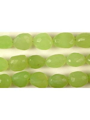 Faceted Green Chalcedony Tumbles