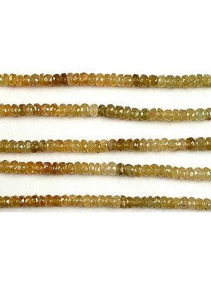 Faceted Grossular Garnet Rondells