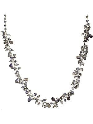 Faceted Iolite Dangling Necklace