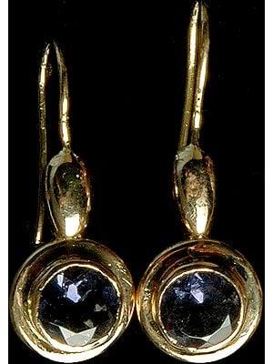 Faceted Iolite Earrings