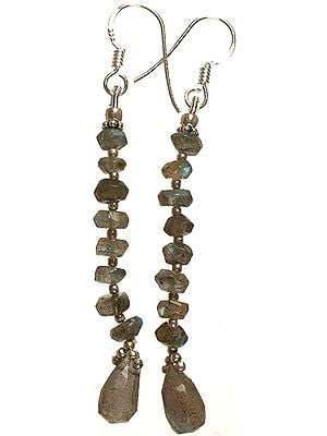 Faceted Labradorite Beaded Earrings