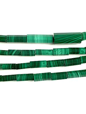 Faceted Malachite Tubes