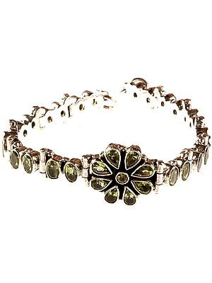 Faceted Peridot Bracelet