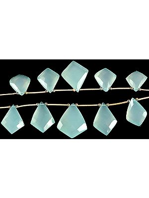 Faceted Peru Chalcedony Shapes