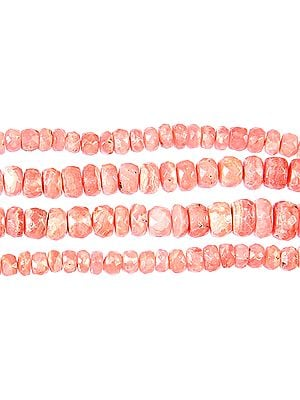 Faceted Rhodochrosite Rondells