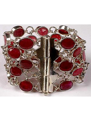 Faceted Ruby Bracelet