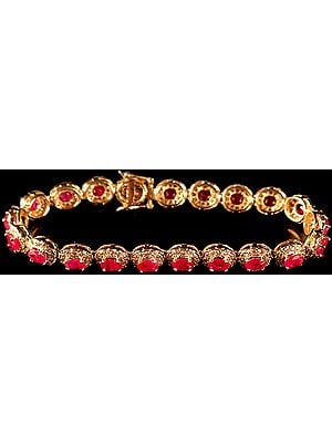 Faceted Ruby Bracelet