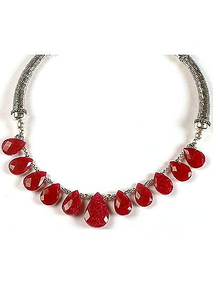 Faceted Ruby Choker