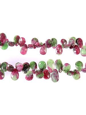 Faceted Ruby Zoisite Briolette