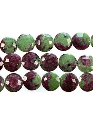 Faceted Ruby Zoisite Coins