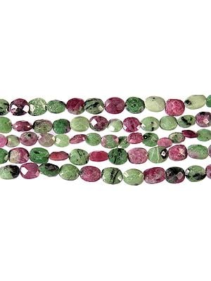 Faceted Ruby Zoisite Ovals