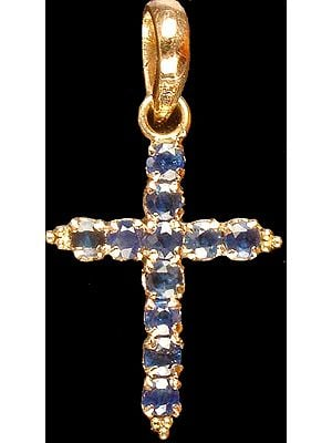 Faceted Sapphire Cross