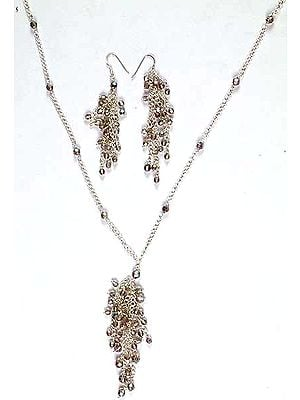 Faceted Swarovski Necklace & Earrings Set