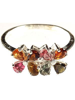 Faceted Tourmaline Ring (in Mixed Colors)