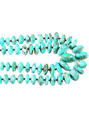 Faceted Turquoise Rondells
