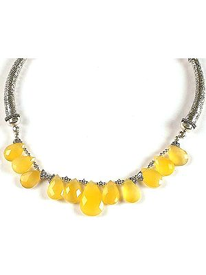 Faceted Yellow Chalcedony Choker