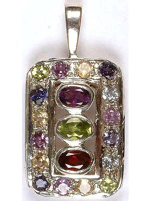Fine Faceted Gemstone Pendant