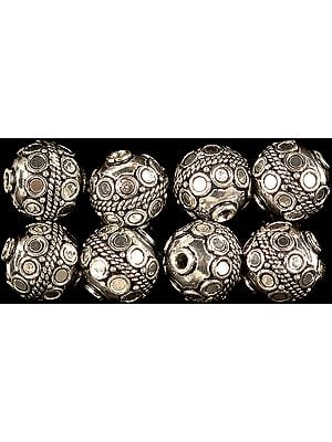 Finely Crafted Sterling Bead with Knotted Rope (Price Per Piece)