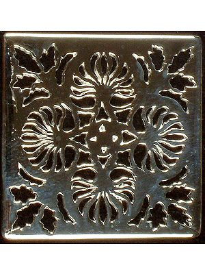 Floral Lattice Rectangle for Pendants (Price per Piece)