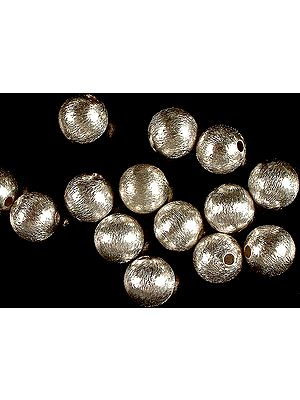 Frosted Sterling Balls (Price Per Two Pair)