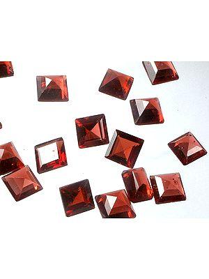 Garnet 5 x 5 mm Squares (Price Per 10 Pcs)
