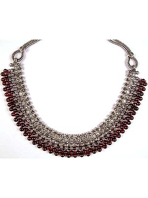 Garnet Ball Fine Necklace