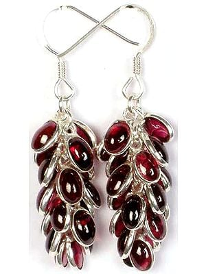 Garnet Bunch Earrings