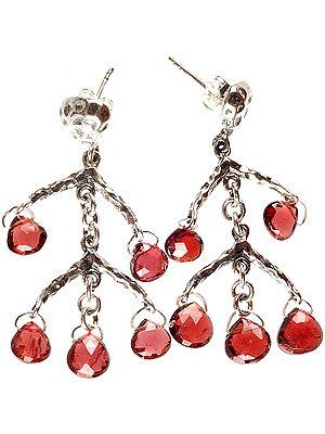 Garnet Designer Earrings