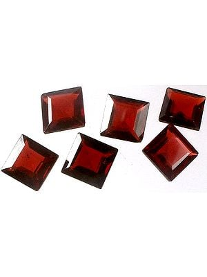 Garnet mm Size Squares (Price Per Pair)