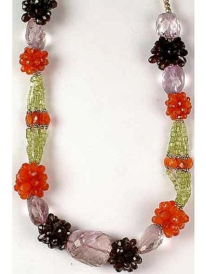 Gemstone Beaded Necklace from Rajasthan