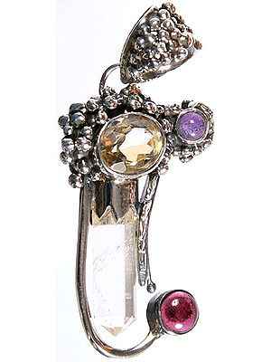 Gemstone Pendant (Crystal, Citrine, Garnet and Amethyst)