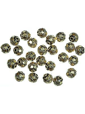 Gold Plated Circular Beads<br>(Price Per Dozen)