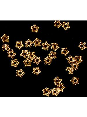 Gold Plated Knotted Rope Stars (Price per 8 Pieces)