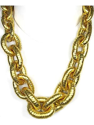 Golden Linked Chain Necklace