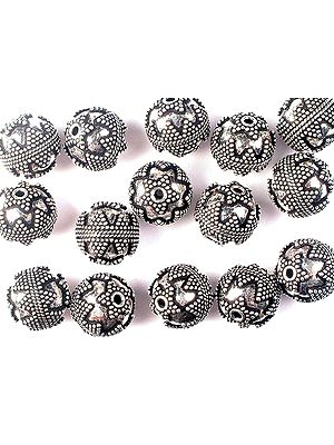 Granulated Fine Beads of Sterling Silver<br>(Price Per Four Pieces)