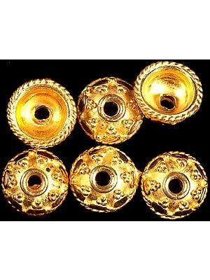 Granulated Gold Plated Caps (Price Per Pair)