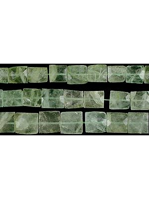 Green Fluorite Faceted Chewing Gum