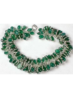 Green Onyx Bunch Bracelet