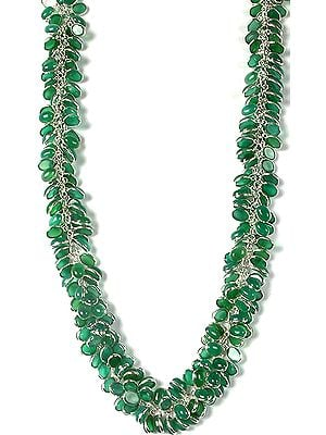 Green Onyx Bunch Necklace