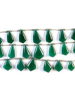Green Onyx Plain Briolette