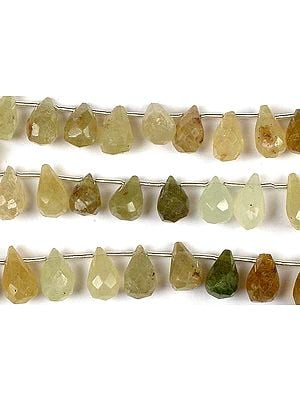 Grossular Garnet Faceted Drops