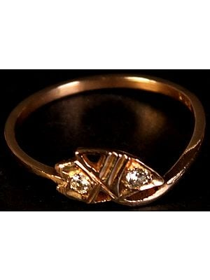 Handcrafted Twin Diamond Ring