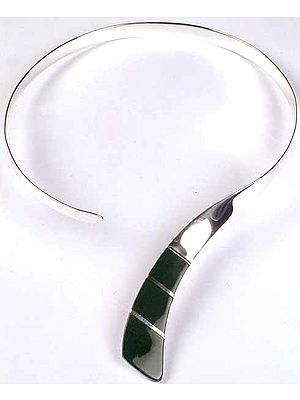 Inlay Green Onyx Choker