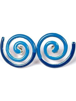 Inlay Spiral Earrings